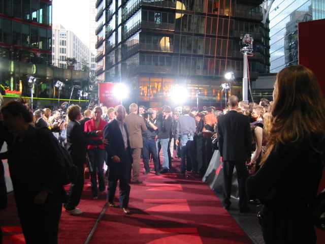 Sony-Center Berlin, René bei einer Filmpremiere